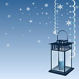 Blue Christmas with lantern