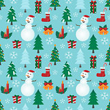 Christmas light blue pattern.