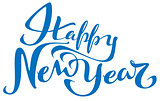 Happy New Year lettering text for greeting card