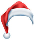 Red hat santa isolated on white background. Christmas accessory