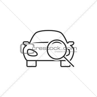 Car diagnostic line icon