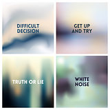Abstract vector silvery gray white blurred background set