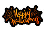 Happy Halloween message design background.