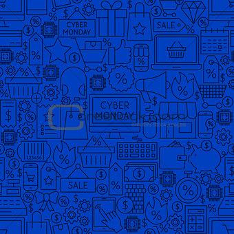 Cyber Monday Line Tile Pattern