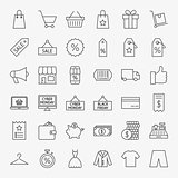 Black Friday Line Icons