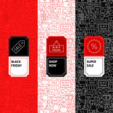 Line Black Friday Package Labels
