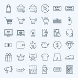 Line Cyber Monday Icons