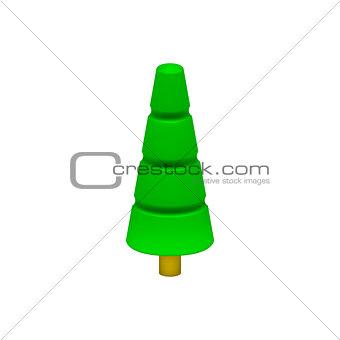 Green tree in plastic design