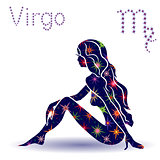 Zodiac sign Virgo stencil