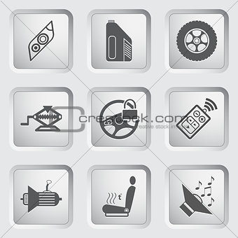 Car part and service icons set 5.