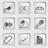 Car part and service icons set 4.
