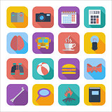 Flat icons for Web Design