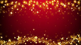 Elegant Christmas Background,Golden star