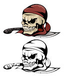 Two skulls of pirate