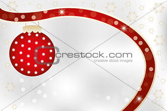 Christmas card template with copy space