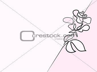 Beautiful rose flower logo