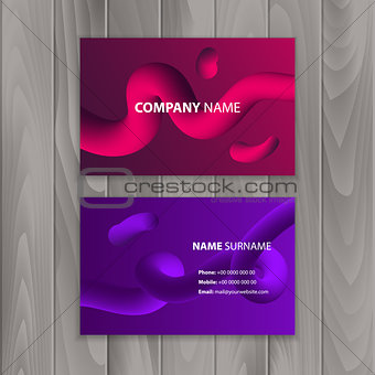 Business cards with colorful, abstract background. Vector illustration