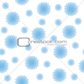 Abstract Blue Shapes Seamless Texture