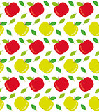 Apples seamless texture vector