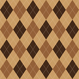 Argyle pattern brown rhombus seamless texture