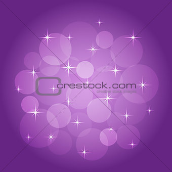 Abstract background with bokeh lilac