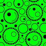 Geometric green background circles