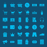 Cyber Monday Glyph Web Icons