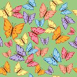 Butterflies Seamless Texture