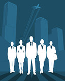 Silhouette business team