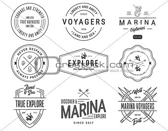 Black on White Sea Badges Vol. 1 for any use