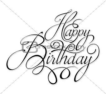 Black text happy birthday