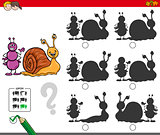 educational shadow game with ant and snail