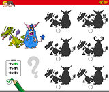 educational shadow game with monsters