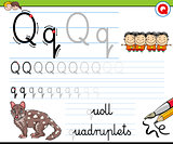 how to write letter Q worksheet for kids