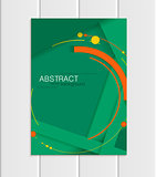 Vector green brochure A5 or A4 format material design element corporate style