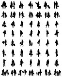 silhouettes of shopping