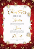 Christmas menu design