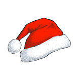 Santa hat isolated on white background.