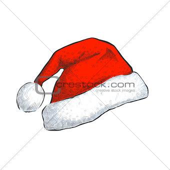 Santa hat isolated on white background.