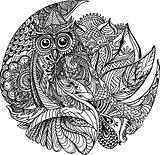 Floral owl design