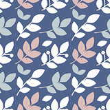 Seamless background with natural motifs
