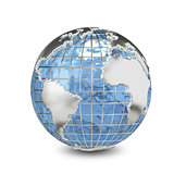 3D Illustration Metal Globe