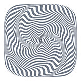 Abstract op art design element.