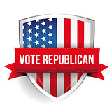 Vote Republican shield Usa flag