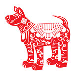 Red Dog. Chinese New Year Zodiac Symbol 2018.