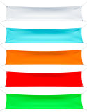 Set of textile banners with folds