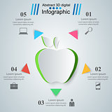 Apple, health - business infographic.