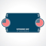 Illustration of veterans day greeting