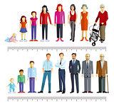 Generations stand together illustration