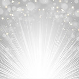 Silver Sunburst Background